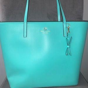 Large Turquoise Kate Spade Tote Bag